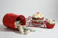 Cupcakes and candies Royalty Free Stock Image