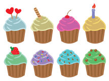 Cupcakes Cartoon Vector Illustration Stock Images