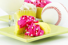 Cupcakes for Celebration After the Game Stock Photos