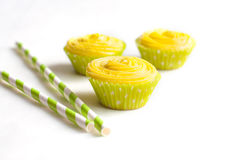 Cupcakes with cheese cream Stock Photography