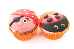 Cupcakes with child decoration Stock Photography