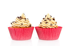 Cupcakes with chocolate speckles Royalty Free Stock Photo