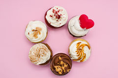 Cupcakes and chocolate sprinkles Royalty Free Stock Image