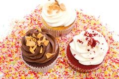 Cupcakes and chocolate sprinkles Royalty Free Stock Photo