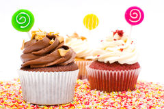 Cupcakes and chocolate sprinkles Royalty Free Stock Photography