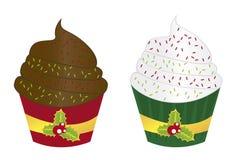 Cupcakes christmas Stock Photo