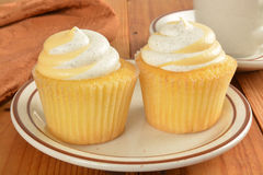 Cupcakes and coffee Stock Photography
