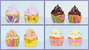Cupcakes collage Stock Photo