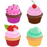 Cupcakes collection Stock Photos