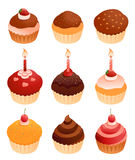Cupcakes. Collection on a white background Royalty Free Stock Image
