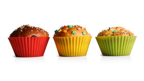 Cupcakes in colorful molds for baking Stock Photo