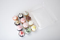 Cupcakes in Container Stock Image