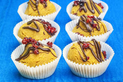 Cupcakes with cranberries Stock Images