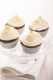 Cupcakes with cream cheese frosting Royalty Free Stock Photography