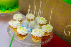 Cupcakes with cream cheese Royalty Free Stock Image