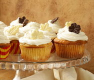 Cupcakes  with cream and chocolate Royalty Free Stock Photo