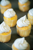 Cupcakes with cream of swiss merinque Royalty Free Stock Image