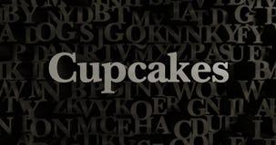 Cupcakes - 3D rendered metallic typeset headline illustration Royalty Free Stock Image