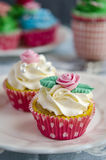Cupcakes decorated Stock Images