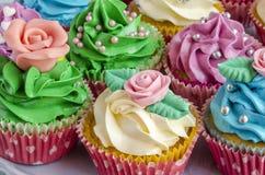 Cupcakes decorated Stock Photo