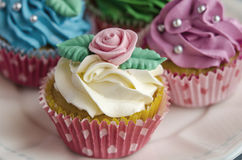 Cupcakes decorated Royalty Free Stock Photography