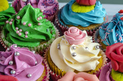 Cupcakes decorated Stock Image