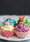 Cupcakes decorated Royalty Free Stock Image