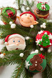 Cupcakes   decorated for Christmas Royalty Free Stock Photos