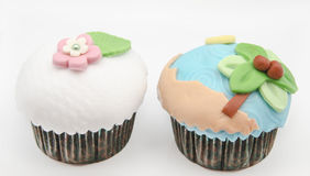Cupcakes decorated Stock Photography