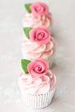 Rose cupcakes Royalty Free Stock Image