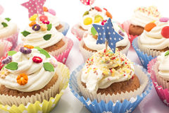 Cupcakes Delicious And Colorful Decorated Royalty Free Stock Photo