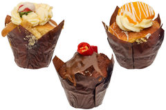 Cupcakes of different flavours Royalty Free Stock Photos
