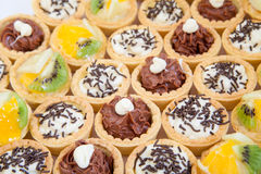 Cupcakes with different stuffing Royalty Free Stock Image