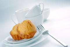 Cupcakes and dishware Stock Photos