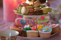 Cupcakes en gebakje Royalty-vrije Stock Afbeeldingen