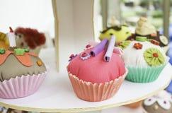 Cupcakes fabric Stock Photo