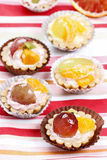 Cupcakes filled with fresh fruits Stock Image