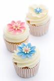 cupcakes flower στοκ φωτογραφία