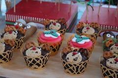 Cupcakes , fondant art Stock Photo