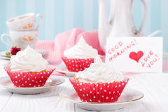 Free Cupcakes For Valentine S Day. Royalty Free Stock Image - 65434826