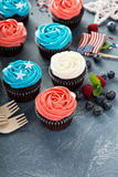 Cupcakes for the Fourth of July Stock Image