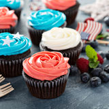 Cupcakes for the Fourth of July Royalty Free Stock Photos