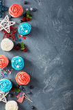 Cupcakes for the Fourth of July Stock Photos