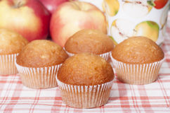 Cupcakes with fruit filling. Stock Images
