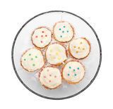 Cupcakes on a glass plate Stock Photography