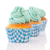 Cupcakes in green and blue Royalty Free Stock Image