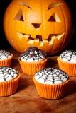 Cupcakes for halloween Stock Photos