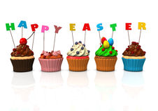 Cupcakes Happy Easter Stock Image
