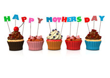 Cupcakes Happy Mothersday Royalty Free Stock Images