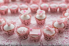Cupcakes. With a happy wedding sign Stock Photo